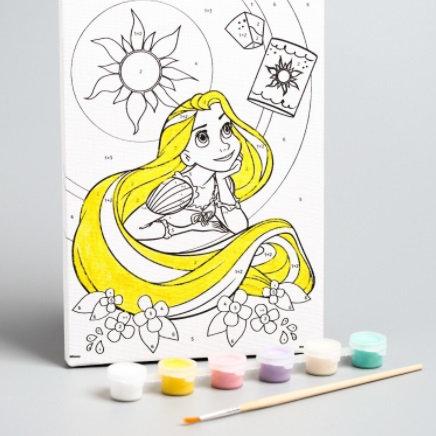 """Картина по номерам """"Мечты сбудутся"""" 21 х 15 см, Принцессы: Рапунцель"""