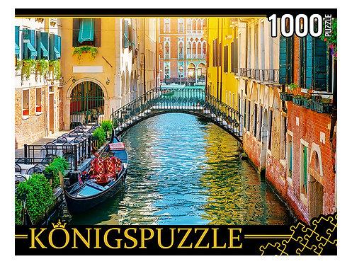 Konigspuzzle. ПАЗЛЫ 1000 элементов. ГИК1000-0650 СОЛНЕЧНАЯ ВЕНЕЦИЯ