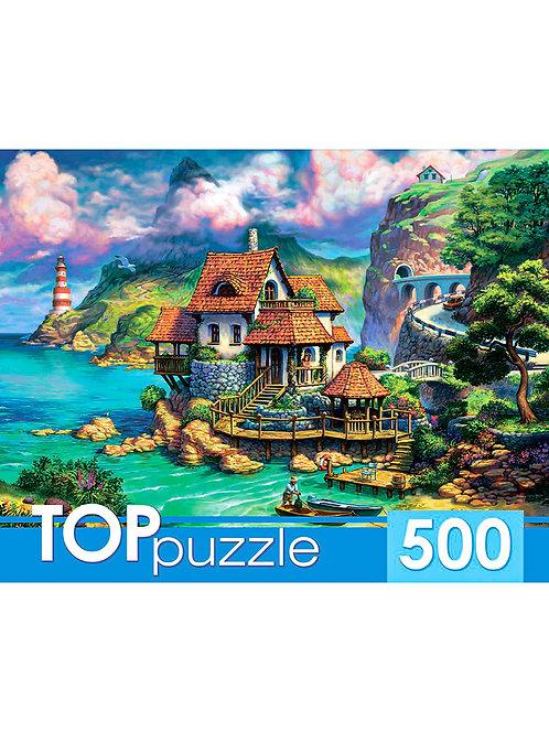 TOPpuzzle. ПАЗЛЫ 500 элементов. ХТП500-6822 Прибрежный домик