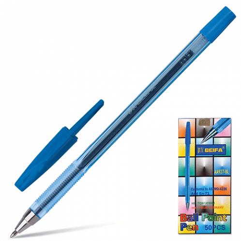 Ручка шариковая прозрачный корпус СИНЯЯ BEIFA 927 (50шт/уп)(1000шт/ящ)