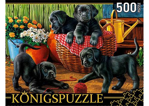 Konigspuzzle. ПАЗЛЫ 500 элементов. ХК500-6308 ЩЕНКИ ЛАБРАДОРА