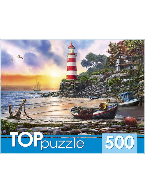 TOPpuzzle. ПАЗЛЫ 500 элементов. ХТП500-6821 Вечерний маяк