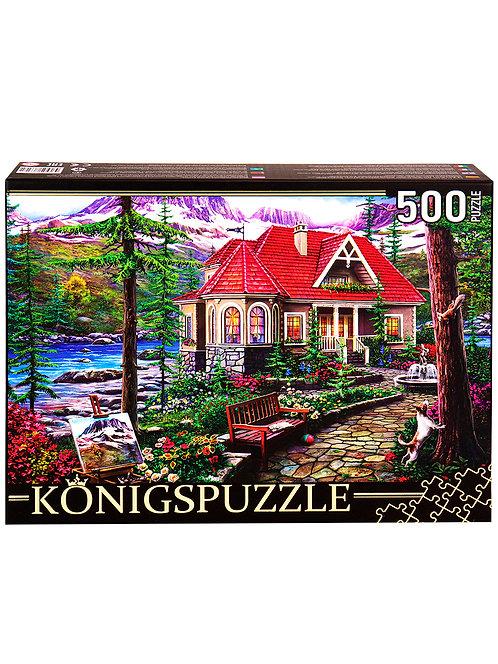 Konigspuzzle. ПАЗЛЫ 500 элементов. ХК500-6317 ДОМИК В ГОРАХ