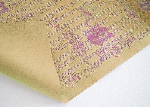 "Бумага упаковочная 700х500мм 80г/м2 крафт ""Ассорти"" MILAND КБ в листах"