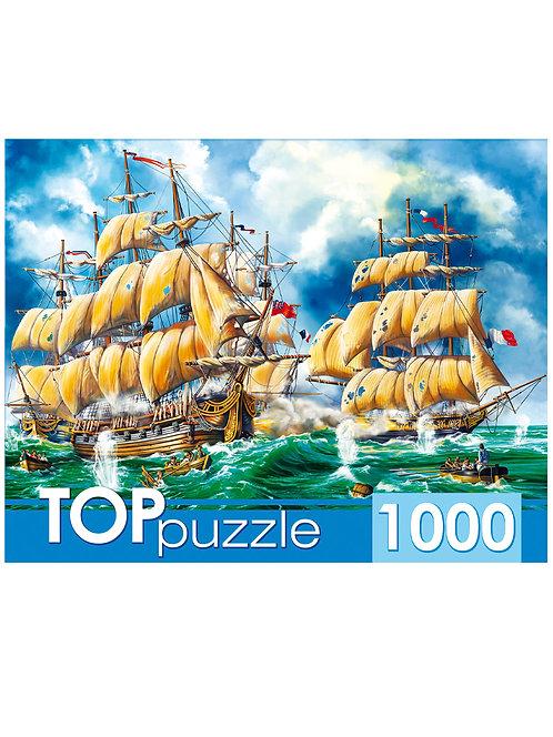 TOPpuzzle. ПАЗЛЫ 1000 элементов. ХТП1000-2175 Битва кораблей