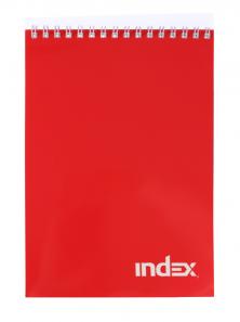 Блокнот INDEX, серия Office classic, красный, на гребне, кл., ф. А5, 40 л.INLcl-