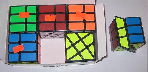 Кубик-Рубика 3х3х3 СРЕДНИЙ 57х57мм форма прямоуголная черная оконтовка 8861-1 бе