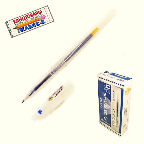Ручка гелевая корпус прозрачный синяя ASMAR AR-2405