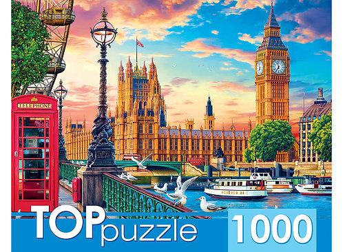 TOPpuzzle. ПАЗЛЫ 1000 элементов. ХТП1000-2167 Великобритания. Лондон