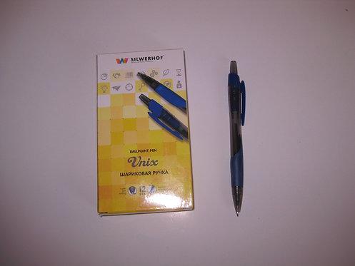 """Ручка автомат """"Unix"""" СИНЯЯ SILWERHOF 026124-02"""