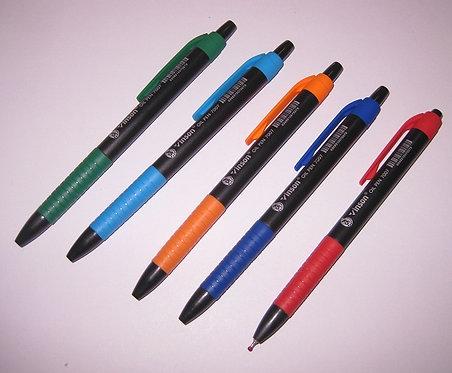 """Ручка автомат """"My swift"""" с резинкой корпус черный СИНЯЯ VINSON 14284 (36шт/уп)"""