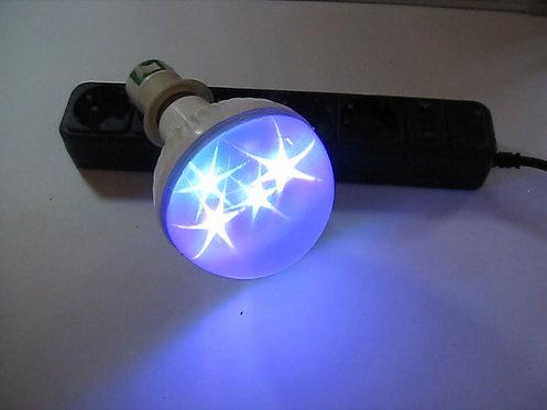 Лампочка светодиодная LED 1W разноцветная в коробке