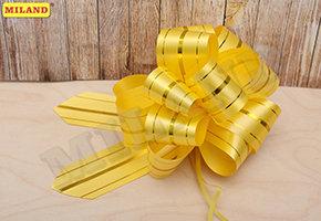 Бант-шар Золотые линии (5 см) желтый БЛ-8008