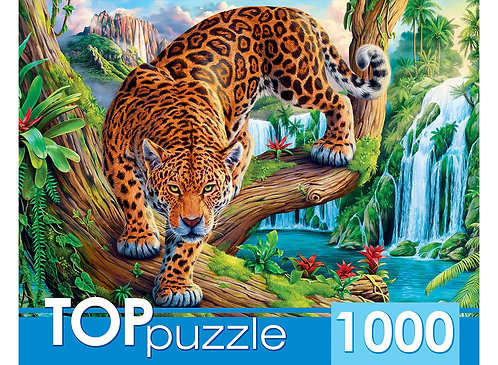 TOPpuzzle. ПАЗЛЫ 1000 элементов. ХТП1000-2162 Леопрад на дереве