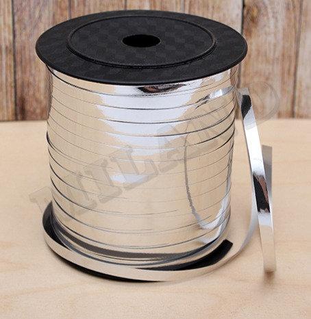 Лента упаковочная Металлик (5 мм.*225 м.) серебряный БЛ-8096