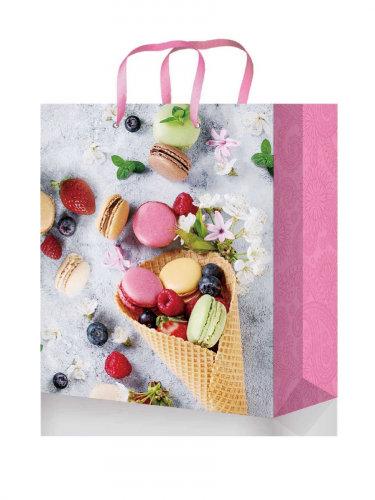 Optima Пакет подарочный с глянцевой ламинацией 18x23x8 см  (M) Нежный десерт, 12