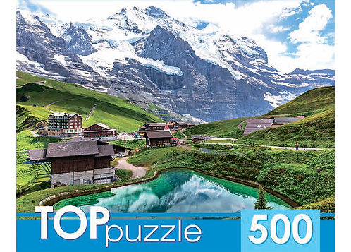 TOPpuzzle. ПАЗЛЫ 500 элементов. КБТП500-6802 Озеро в горах