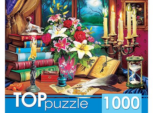 TOPpuzzle. ПАЗЛЫ 1000 элементов. ХТП1000-2173 Загадочный натюрморт
