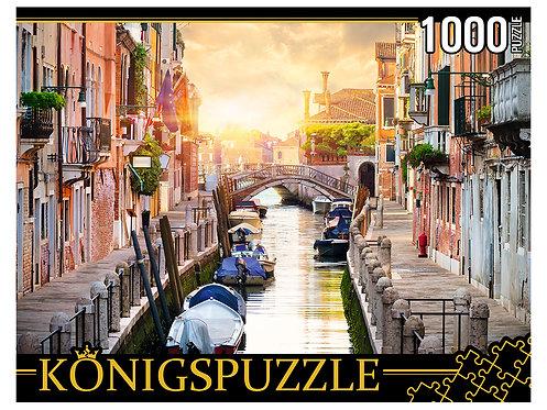 Konigspuzzle. ПАЗЛЫ 1000 элементов. ГИK1000-0633 ВЕНЕЦИЯ НА ЗАКАТЕ