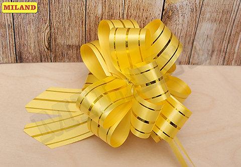 Бант-шар Золотые линии (3 см.) желтый БЛ-8003