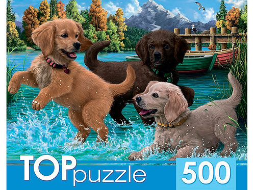 TOPpuzzle. ПАЗЛЫ 500 элементов. ХТП500-6810 Игривые щенки