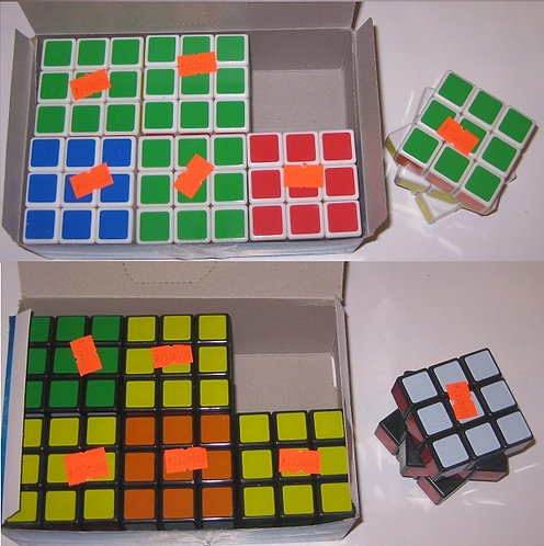 Кубик-Рубика 3х3х3 СРЕДНИЙ 57х57мм с белой/черной оконтовкой A333-6/ASK-09/FM-80