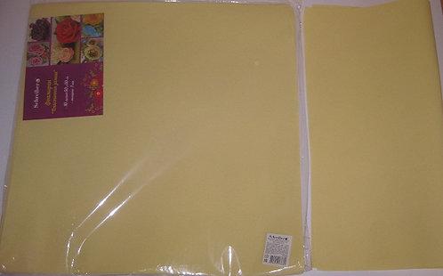 Бумага для фоамирана EVA 50х50см 1мм СЛОНОВАЯ КОСТЬ SCHREIBER S-125