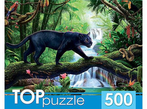 TOPpuzzle. ПАЗЛЫ 500 элементов. ХТП500-6816 Черная пантера