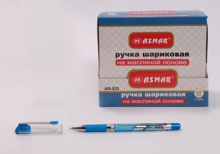 Ручка шариковая корпус сине-белый СИНЯЯ ASMAR AR-523 (60шт/уп)
