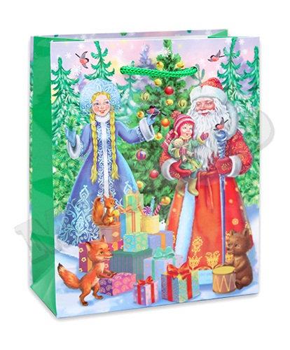 "Пакет подарочный 145х115х60мм (S) глянец ""Новый Год"" малый для подарков OPTIMA П"