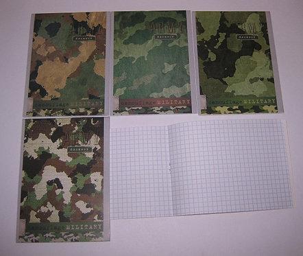 Блокнот А6 24л КАРТОН ОБЛОЖКА с рисунком КЛЕТКА PROF-PRESS Б24 (20шт/уп)(160шт/я