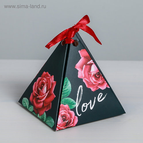Бонбоньерка Love, 7 × 7 × 7,5 см