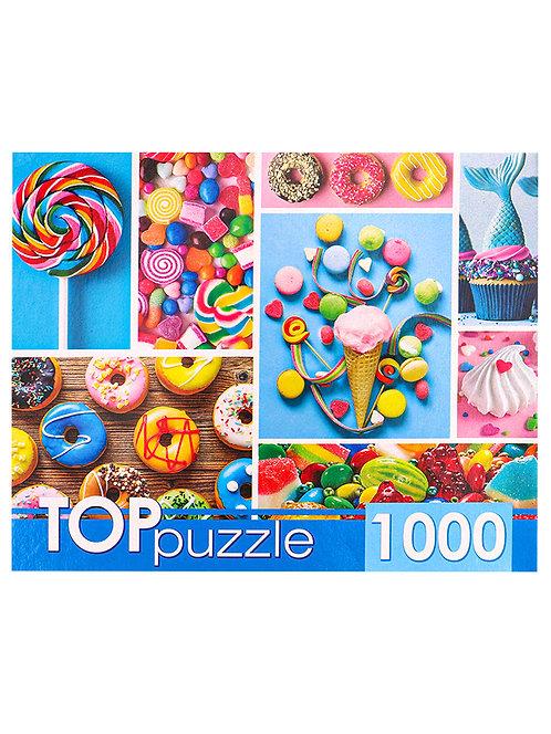 TOPpuzzle. ПАЗЛЫ 1000 элементов. ГИТП1000-4136 Любимые сладости