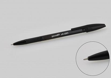 Ручка шариковая корпус шестигранный черный ЧЕРНАЯ ASMAR AR-2260/1145 (50шт/уп)
