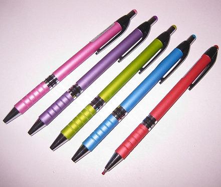 Ручка автомат корпус антискользящий цветной СИНЯЯ PIANO PT-165-C (24шт/уп)