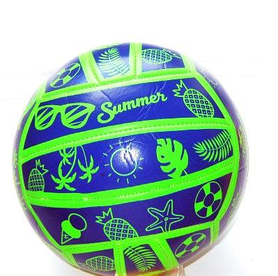 Мяч волейбольный кожзам зеленый с пальмами AN01113