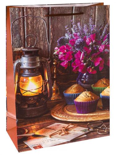 Optima Пакет подарочный с матовой ламинацией 26,4x32,7x8 см  (L) Уютное чаепитие