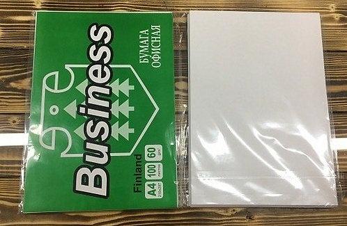 Бумага офисная А4 100л 60г/м2 белая BUSINESS