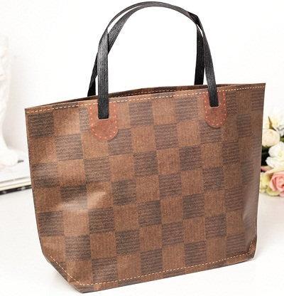 """Пакет-сумка подарочный 410х280х120мм (L) крафт """"Ассорти"""" горизонтальный ВЕ"""