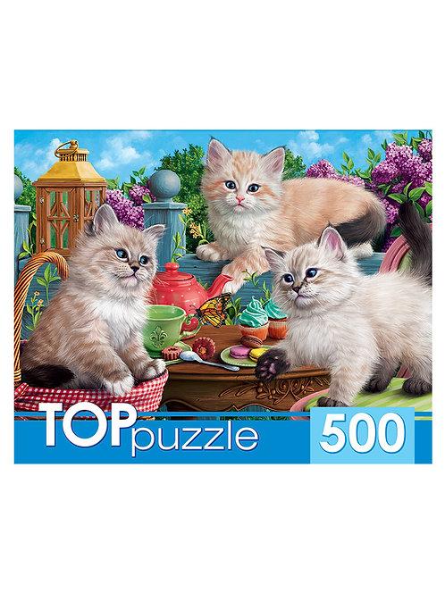 TOPpuzzle. ПАЗЛЫ 500 элементов. ХТП500-5725 НЕВСКИЕ МАСКАРАДНЫЕ КОТЯТА