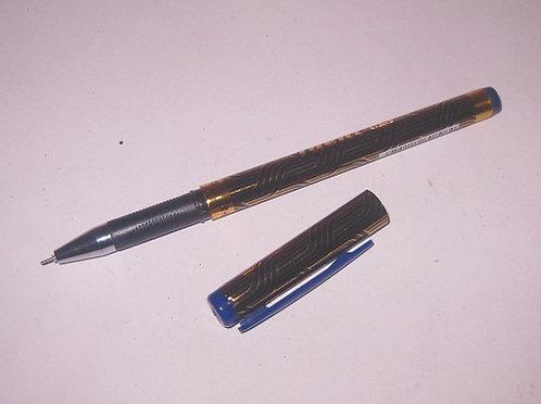 """Ручка гелевая """"Taent"""" с резинкой корпус синий с золотом СИНЯЯ K93/GP-898 (12шт/у"""