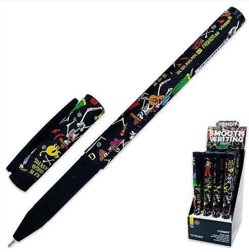 """Ручка шариковая """"Quilt Design"""" корпус soft с рисунком  0,7мм СИНЯЯ MAYLOTT MY-A6"""