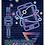 Thumbnail: БЛОКНОТ А6 40л. на гребне НЕОНОВЫЙ ДИЗАЙН  (Б40-0261) ассорти, цвет.мелов.обл, о