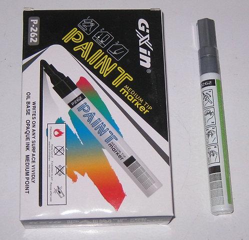 Маркер краска СЕРЕБРО 4мм PAINT/ASMAR SA-101/P-262/ZP-1501 (12шт/уп)