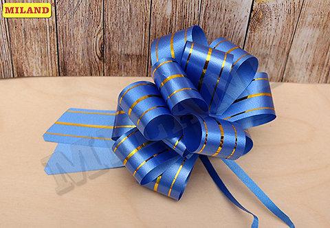 Бант-шар Золотые линии (3 см.) синий БЛ-8002