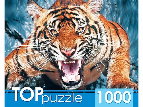 TOPpuzzle. ПАЗЛЫ 1000 элементов. ГИТП1000-2145 Грозный тигр