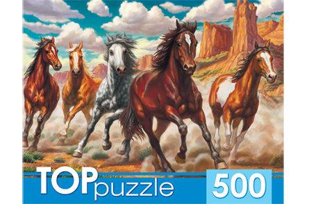 TOPpuzzle. ПАЗЛЫ 500 элементов. ХТП500-4216 ДИКИЙ ТАБУН
