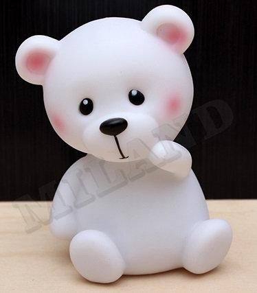 Ночник. Медвежонок, белый, 8х13 см, LED УД-8633