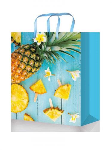 Optima Пакет подарочный с глянцевой ламинацией 18x23x8 см  (M) Ананасовое наслаж