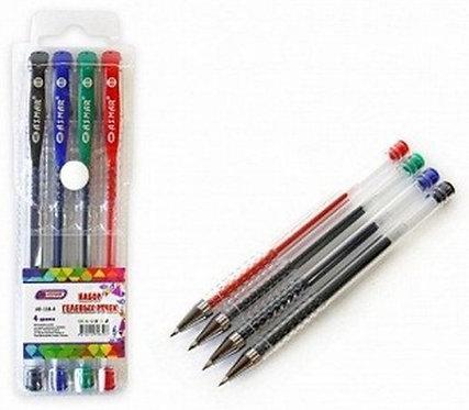 Набор гелевых ручек 5цв корпус прозрачный ASMAR AR-118-5 в пластиковой упаковке